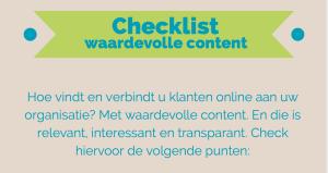 Checklist effectieve content